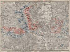 GUERRA FRANCO-PRUSSIANA. la battaglia di Mars-la-Tour borny-Colombey 1870 Metz 1906 Mappa