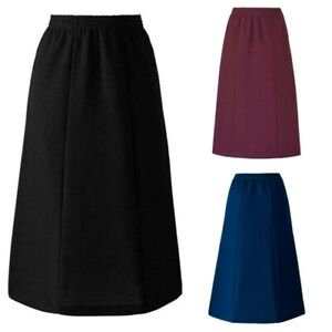 Slimma Ladies Pull On Formal Long Elasticated Skirt Size 10-30 Waist 28-50 Inch