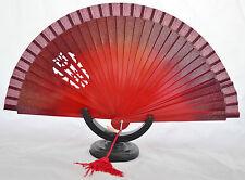 Spanish flamenco Red  wooden hand fans eventails fächers ventagli abanicos Spain