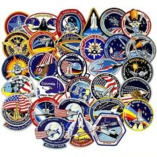 30 Nasa Space Shuttle Cloth Patches Columbia Challenger Discovery Spacelab