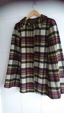 Vintage  Plaid Tartan Wool/ mohair Cape  coat 12 1950s