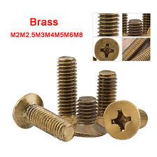 M2M2.5M3M4M5M6M8 Solid Brass Flat Head Machine Screws Phillips Countersunk Screw