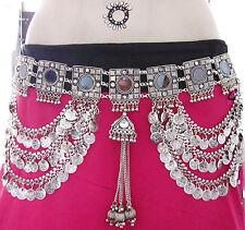 Tribal Belly Dance Belt Coin Fringe Chain Tassel Skirt Pant ats Costume Jewelry