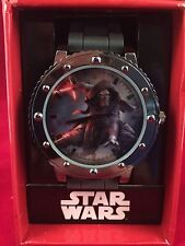 Star Wars The Force Awakens Kylo Ren Gray Large Face Analog Watch New RARE VHTF