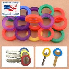 5x Key Caps Rubber Identifer Top Cover Keys Topper Ring Mixed Colors Marker Lock