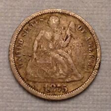 1875 US Seated Liberty Dime Ten 10 Cents