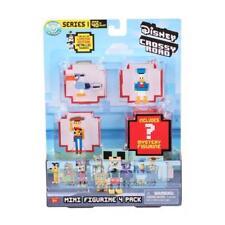 Randomly Assorted Disney Crossy Road Series 1 Mini Figures 4 Pack with 1 Hidden