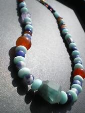 1 Rare Tribal Inca Multi Blue Stone Beads design from Peru (Collier Atahualpa)