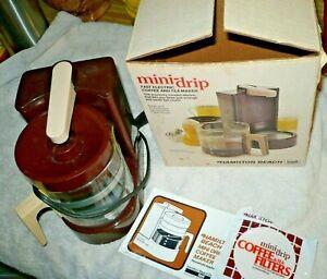 Hamilton Beach Mini Drip CoffeeMaker Scovill 4 Cup 784 Brown U.S.A. with Box