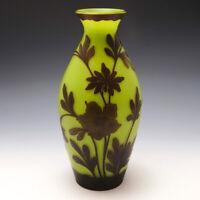 Very Tall Loetz Cameo Glass Vase c1925