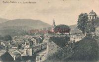AK, Grafik, Baden-Baden, Blick von der Schlossterrasse, 1914; 5026-77