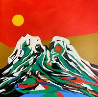 "Original Oil Painting ""SEEKING ALASKA"" on Canvas 30"" x 30"" (Art/Landscape)"