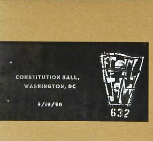 PEARL JAM CONSTITUTION HALL WASHINGTON DC 9/19/98 2 CD NEW LIVE RECORDING