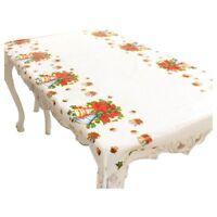 I78 Nappe de Noel rectangulaire jetable Couvercle de table Nappe de table oblong