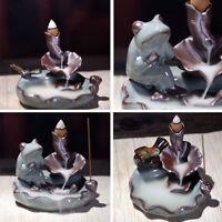 Ceramic Incense Stick Holder Joss Insence Box Insense Burner Ash Catcher