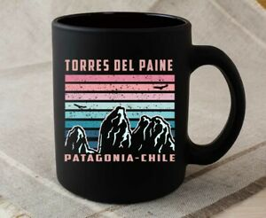 Torres Del Paine Chile Andes Mountains Retro Trekking Coffee Mug