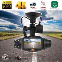 1080P Dual Lens GPS Car Dashboard DVR Camera Video Recorder Dash Cam G-Sensor