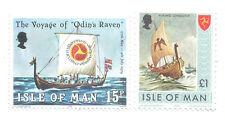 Viking Ships Isle of Man 2 values mnh