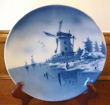 "Delfts 12"" Wall Plate Dutch Water & Winter Landscape     - a"