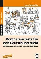 Kompetenztests für den Deutschunterricht in Klasse 3 und... | Buch | Zustand gut