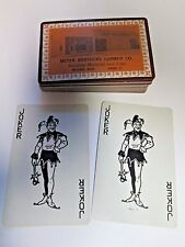 Vintage Complete Deck of Advertising Playing Cards Meyer Brothers Lumber Co. MN