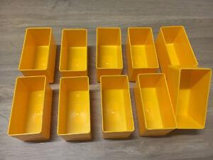 10Stück Allit EuroPlus Insert 45/2 gelb Einsatzbox Gr.2 Sortimentskästen 456301
