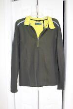 MONDETTA men's shirt 1/4 Zip pullover Running poly/spandex black size S ec