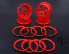 high strength nylon front&rear wheel hub and rim set red for 1/5 hpi baja 5b