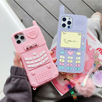 Cute Charm Silicone Girl Phone Case Cover For Apple iPhone12ProMax XR 11 7 8+ XS