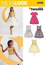 NEW LOOK SEWING PATTERN Girls PARTY DRESS TWEENS SIZE 8 - 16 6388 HALF RPICE