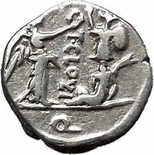 Roman Republic 98BC Jupiter Victory Trophy Ancient Quinarius Silver Coin i55501