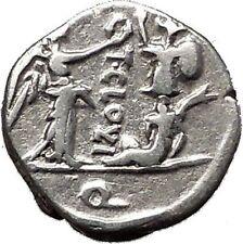 Roman Republic 98BC Jupiter Victory Trophy Ancient Quinarius Silver Coin i55501