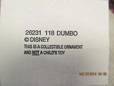 Disney   Dumbo  Christmas Ornament  #118 Original Box
