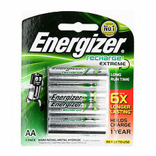 4x Energizer Rechargeable AA NiMH 2300 mAh Recharge Extreme Battery NEW au