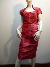 LINEA RAFFAELLI RED DRESS & BOLERO   WEDDING / RACES / PARTY  UK 10  £630   BNWT