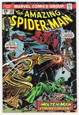 (1974) THE AMAZING SPIDER-MAN #132 Vs THE MOLTEN MAN! MARY JANE!  6.5 / FINE+