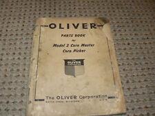 Oliver Tractor Model 2 Corn Picker Dealers Parts Manual