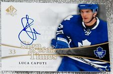 Toronto Maple Leafs Luca Caputi Signed 11/12 SP Sign of the Times Card Auto