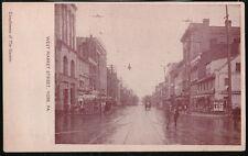 YORK PA West Market Street News Stand Trolley Track Antique Gazette Postcard Vtg