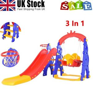 Kids Garden Swing And Slide Set Toddler Baby Indoor Outdoor Playground Climb