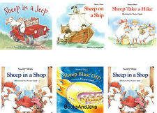 Sheep on a Ship, Sheep in a Jeep,Out to Eat,Blast Off by Nancy Shaw 6 Paperback