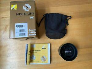 Nikon DX AF-S Nikkor 35mm f/1.8G Prime Lens w/ Caps & Hood - VERY CLEAN with BOX