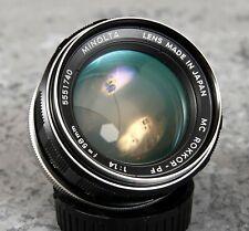 Minolta MC Rokkor PF 58mm f1.4 - Tested