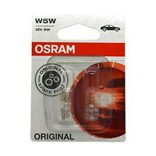 2  x  Osram 501 W5W Car Sidelight Side Light Bulb 12v 5w Push Fit 2825-02B