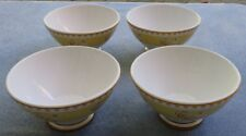 Set of 4 Williams-Sonoma Yellow Footed Bowls Roosters Chickens Made in Portugal