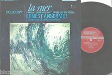 Debussy-La Mer~Rhapsody f Clarinet & Orchestra~Ansermet-London CS 6437  1965 EX