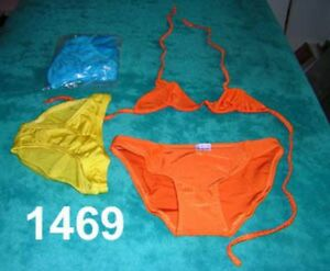 50 x Triangle Bikinis Lycra S/M M  L Mixed Colours See images Measurements below