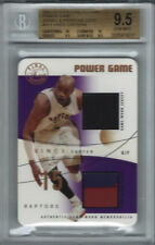 2003-04 FLAIR POWER GAME JERSEY + PATCH VINCE CARTER #2/8 BGS 9.5 2 10's 2 9.5's