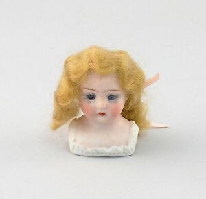 99810158  Porzellan Brustblatt-Kopf Puppenstubenpuppe Puppe Perücke Glasaugen