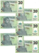 NIGERIA 6 Different Dates of Polymer 20 Naira Banknote (2008-2019) Paper Money